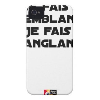 I FAIS NOT SEEMING, I FAIS STRAPPING iPhone 4 Case-Mate CASE