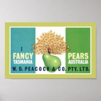 I Fancy Pears Poster