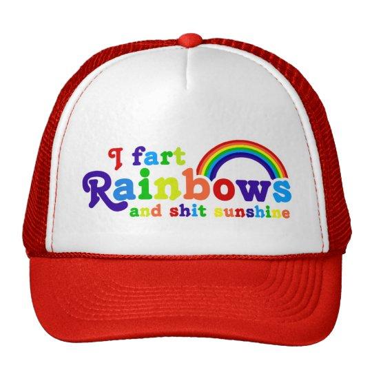 I Fart Rainbows and Shit Sunshine Grobe Trucker Hat