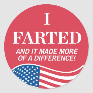 I Farted Voting Sticker