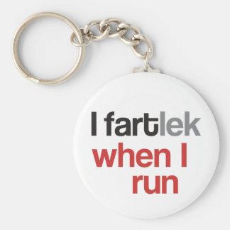 I FARTlek quand je cours le © - FARTlek drôle Porte-clé Rond