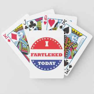 I Fartleked Today Bicycle Playing Cards
