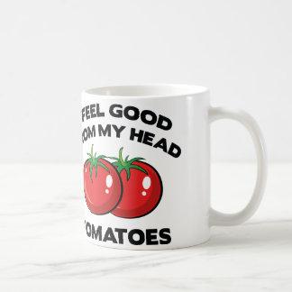 I Feel Good From My Head Tomatoes Classic White Coffee Mug