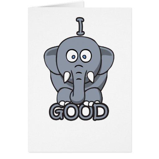 I feel good t shirt cards