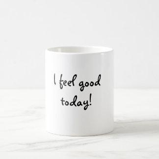 I feel good today! basic white mug