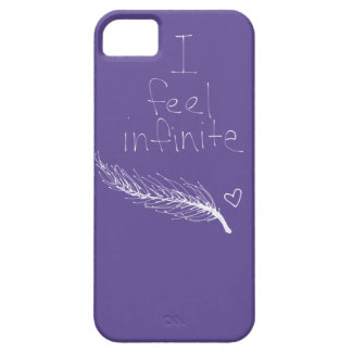 i feel infinite feather heart purple iphone 5 case