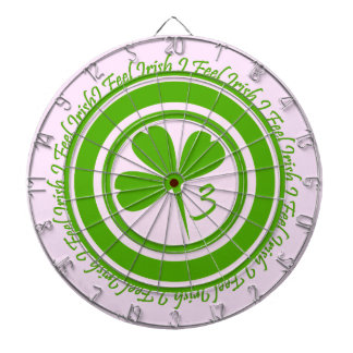 I Feel Irish -Green & White Dartboard