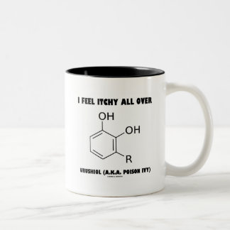I Feel Itchy All Over Urushiol (A.K.A. Poison Ivy) Two-Tone Coffee Mug