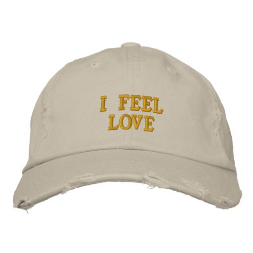 I Feel Love Embroidered Baseball Cap