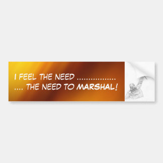 """I feel the need"" by Flagman Bumper Sticker"