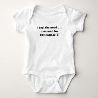 I feel the need for chocolate baby bodysuit