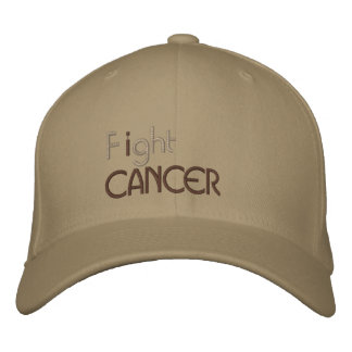I fight cancer embroidered cap