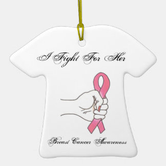 I Fight For Her Breast Cancer Awareness Ornament