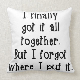 I finally got it all together Pillow