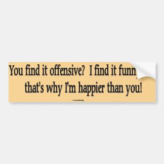I Find It Funny Bumper Sticker
