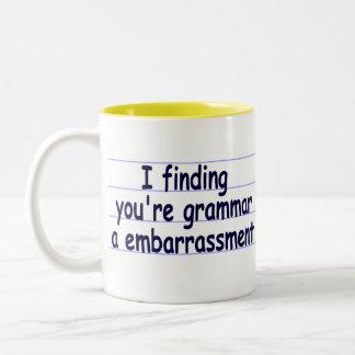 I Finding You're Grammar A Embarrassment Two-Tone Coffee Mug