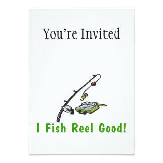 I Fish Reel Good 5x7 Paper Invitation Card