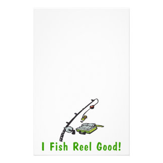 I Fish Reel Good Stationery