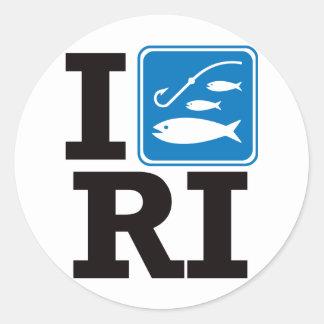 I Fish Rhode Island - RI Classic Round Sticker