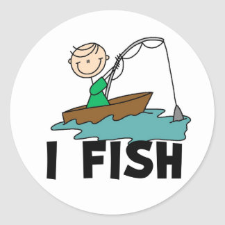 I Fish Stick Boy Stickers Sticker