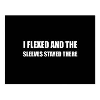 I Flexed Sleeves Stayed Postcard