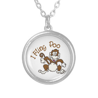 I Fling Poo Silver Plated Necklace