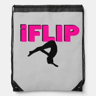 I Flip gymnastics drawstring backpack