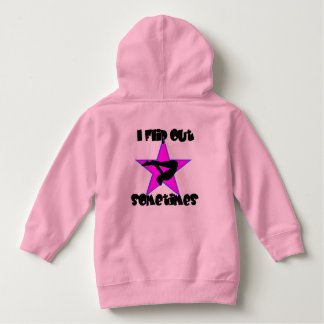 I Flip gymnastics toddle pull over hoodie