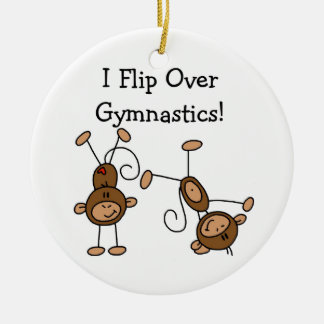 I Flip Over Gymnastics Ceramic Ornament