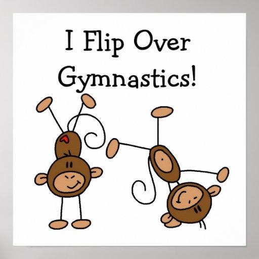 I Flip Over Gymnastics Print