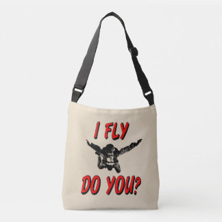 I Fly, Do You? (blk) Crossbody Bag