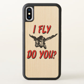 I Fly, Do You? (blk) iPhone X Case