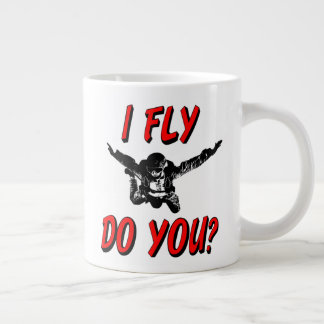 I Fly, Do You? (blk) Large Coffee Mug