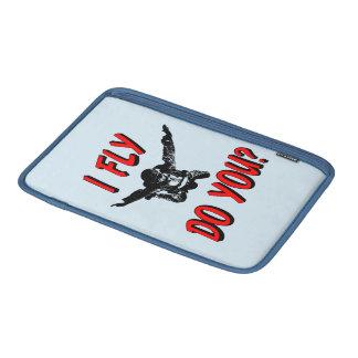 I Fly, Do You? (blk) MacBook Sleeve