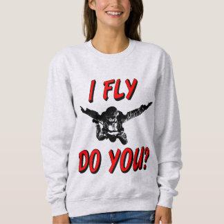 I Fly, Do You? (blk) Sweatshirt
