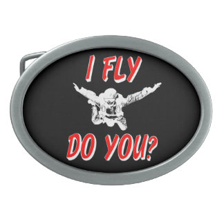 I Fly, Do You? (wht) Belt Buckle