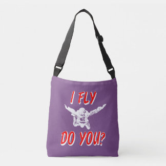 I Fly, Do You? (wht) Crossbody Bag