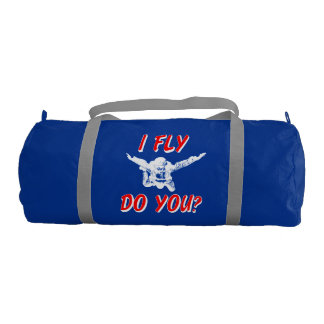 I Fly, Do You? (wht) Gym Bag