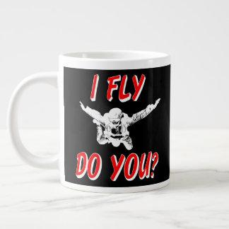I Fly, Do You? (wht) Large Coffee Mug