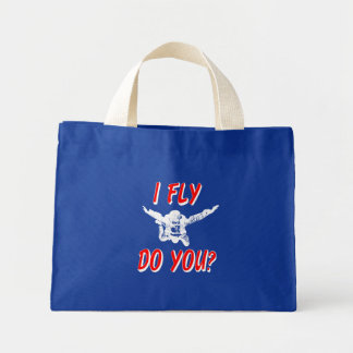 I Fly, Do You? (wht) Mini Tote Bag