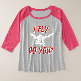 I Fly, Do You? (wht) Plus Size Raglan T-Shirt