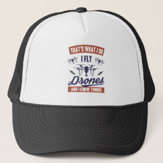 I Fly Drones Trucker Hat