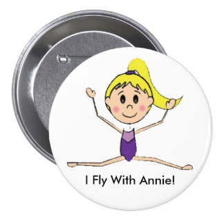 I Fly With Annie (Twinpossible) Button