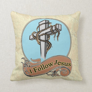 I follow Jesus Throw Pillow