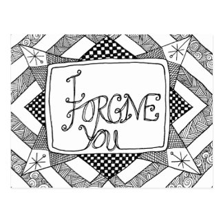 I Forgive You Postcard