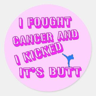 I Fought Cancer Round Sticker