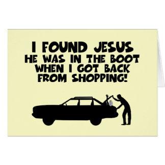 I found Jesus spoof Card