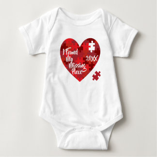 I Found My Missing Piece - Puzzle Heart Baby Bodysuit