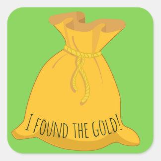 I found the gold St Patricks Day Square Sticker