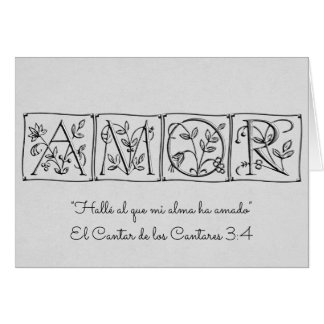 I Found the One my Soul Loves~Scripture~Spanish Card